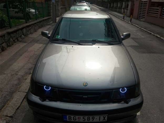 Saab 9-3 LED Angel Eyes