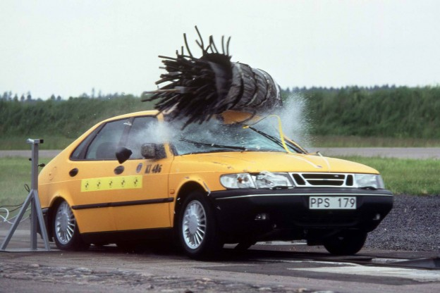 Saab 900 NG First Moose Crash Test