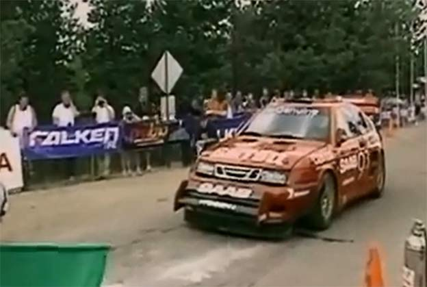 In-car video - Per Eklund in SAAB Viggen (Pikes Peak 2002)