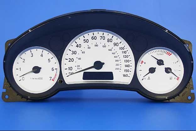 Saab 9-3 white gauges