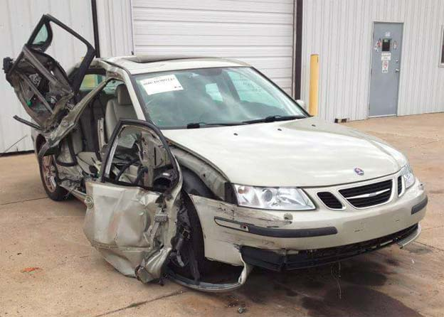 Saab 9-3 saved two lives