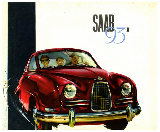 Saab Vintage illustrations