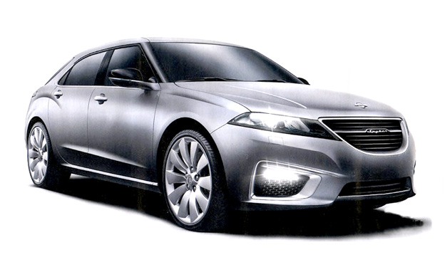 Saab 9-5 NG and 9-4x hybrid concept