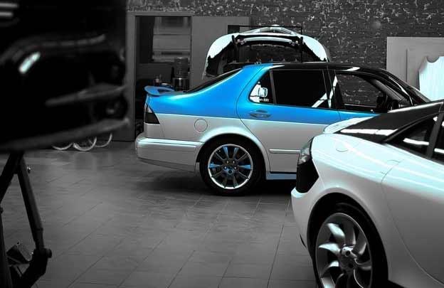 Saab 9-5 garage