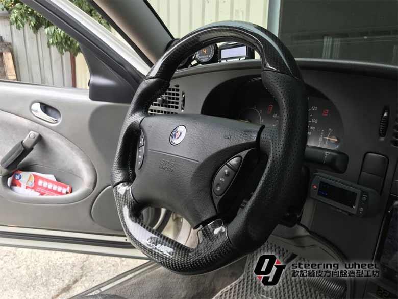 Saab 9-5 carbon-fiber leather steering wheel