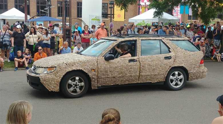 Saab 9-5 wagon corked