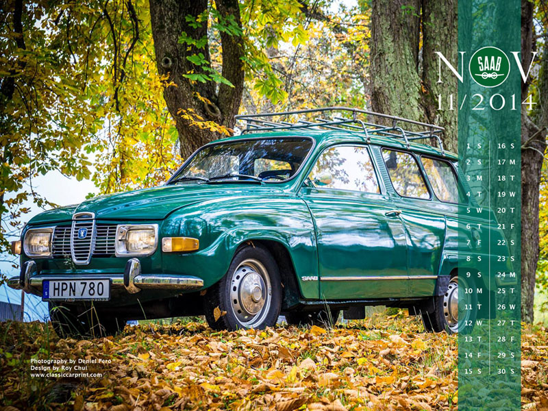 Download SAAB Calendar Wallpapers for November 2014