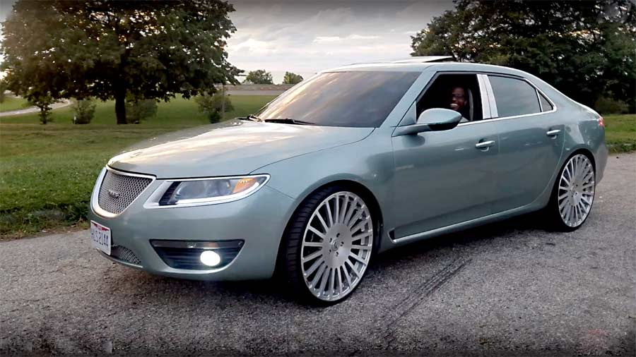 Do you think having Big 24-inch rims on a Saab is cool?