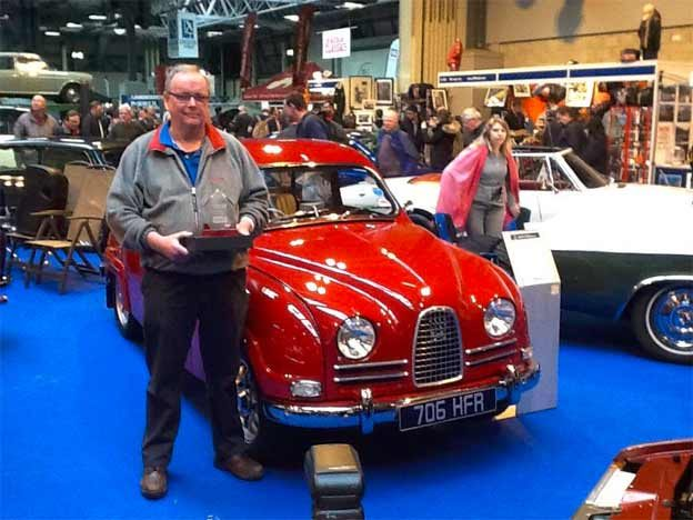 Martin Healey and his winning Saab 96