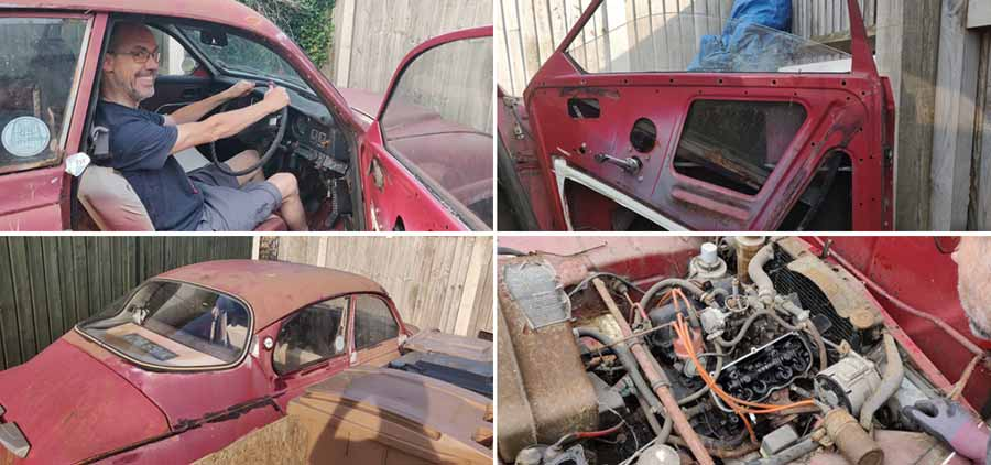 Very bad condition of the car before restoration
