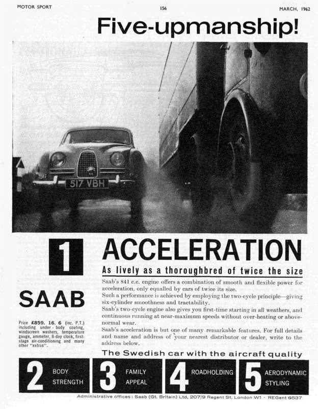 Saab 96 Motorsport Commercial