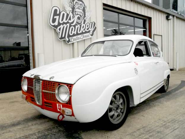 1967 saab 96 monte carlo sport offered by gas monkey for Garage saab lyon