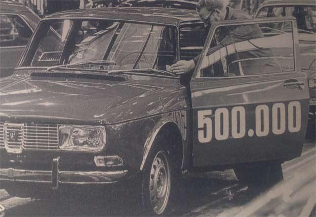 1970 Saab rolls out 500,000th car