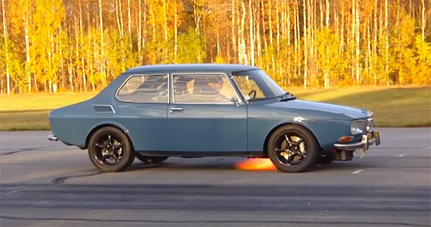 Superb Saab 99 with Audi Quattro AWD