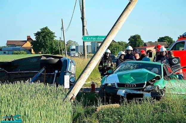 Saab Audi crash