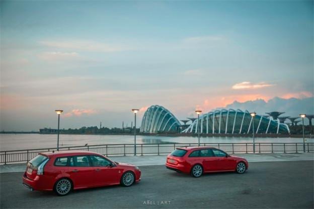Saab SportCombi vs Audi Wagon
