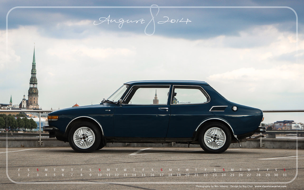 Download Saab Monthly Wallpapers for August 2014
