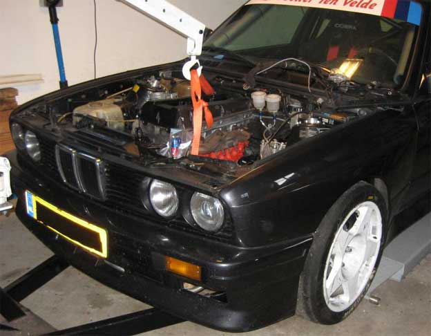 Saab B206 Turbo Engine In Bmw M3 E30