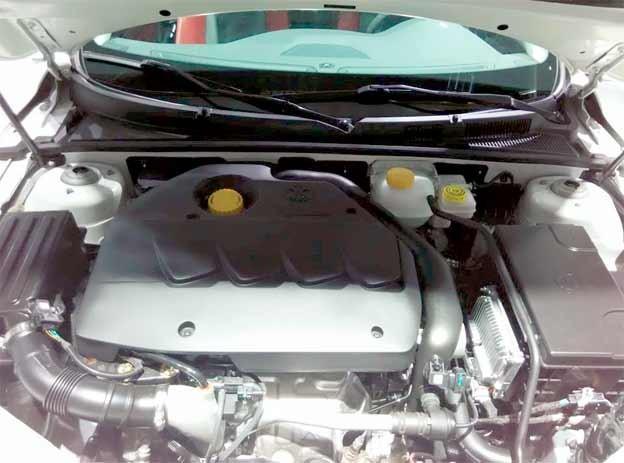 saab based Senova CC engine compartment