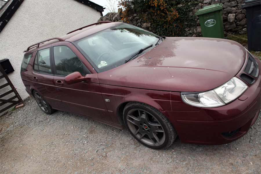 Saab Before Detailing treatment