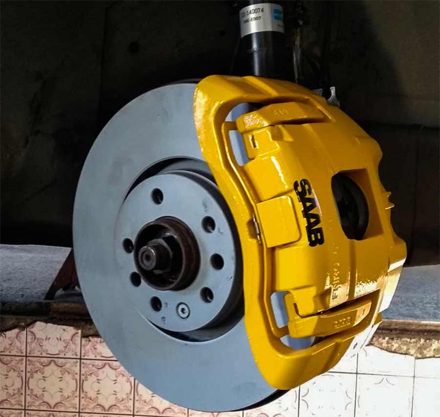 Saab brakes