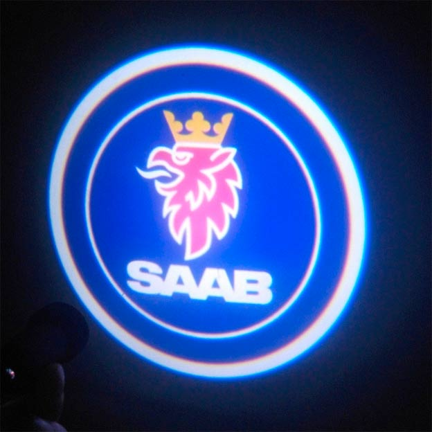 SAAB branded LED door light