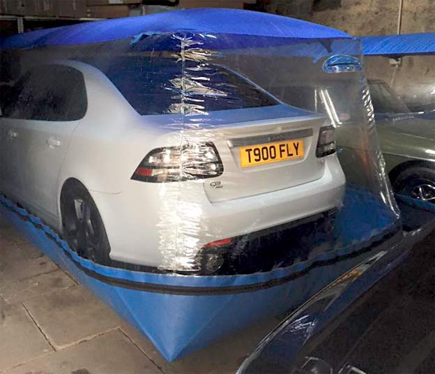 Saab in car protection bubble