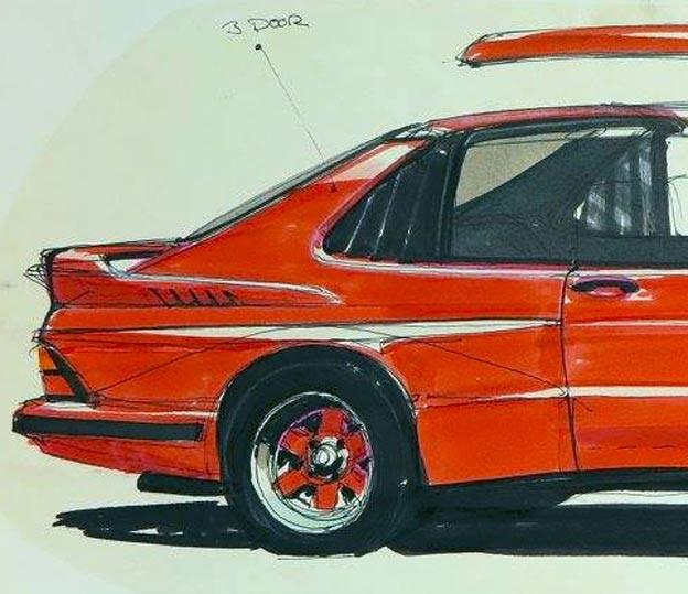 Saab Cabrio - Extended rear part nad Targa Roof