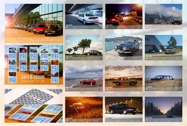 Color Saab Calendar for 2016