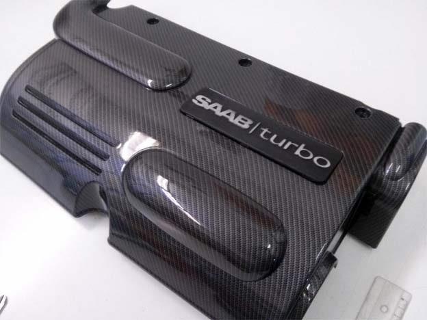 Saab Carbon engine covers