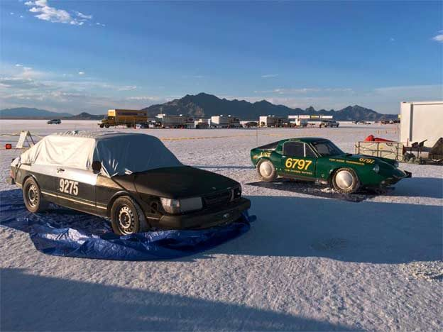 Tom's Saab Cars at Bonneville Salt Flats
