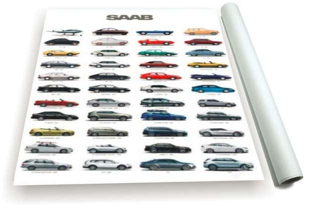 Saab Cars poster