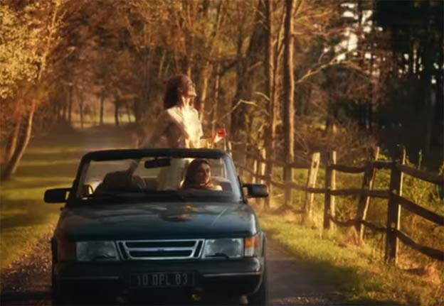 Saab Convertible in Chloé Fall-Winter 2014 Ad Campaign