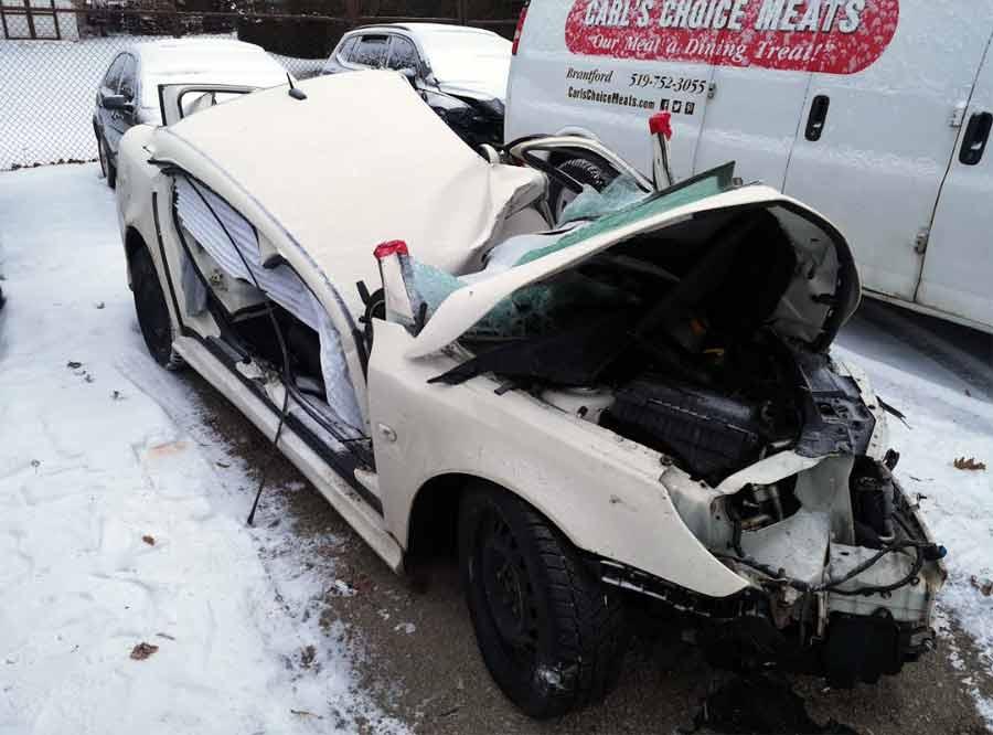 Saab after terrible crash