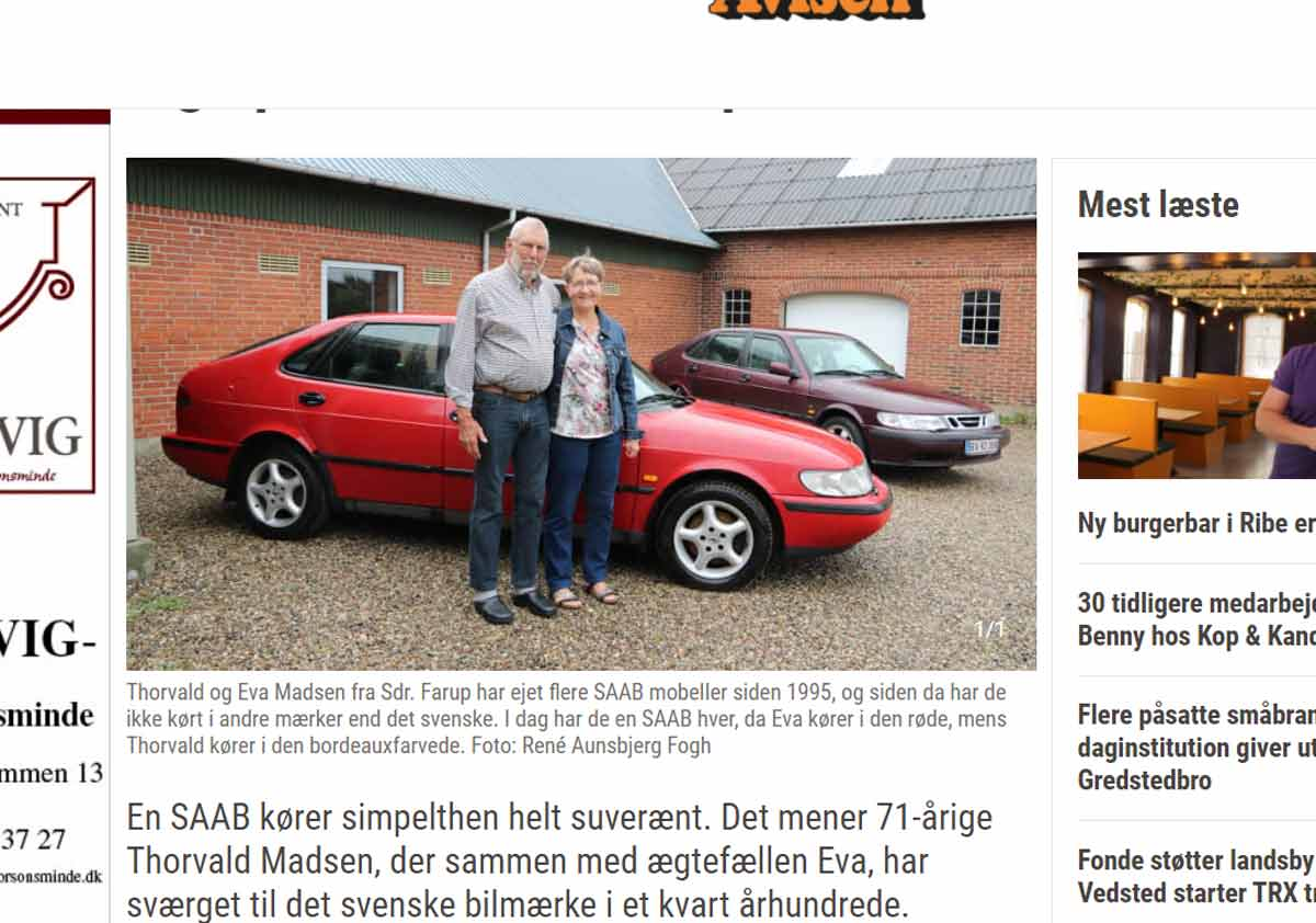 Thorvald and Eva Madsen have sworn to one particular car brand for many years