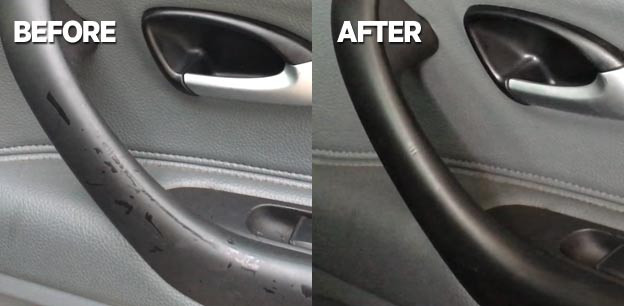 saab door handle trim fix with plasti-dip
