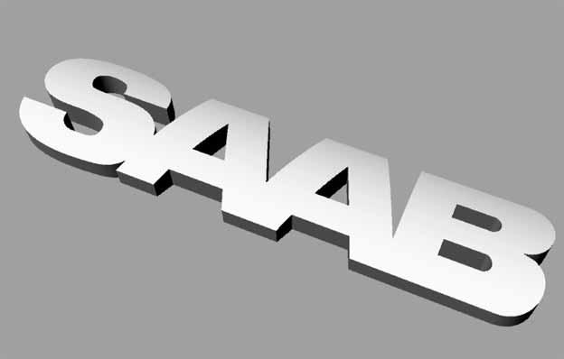 3D print Saab emblem logo