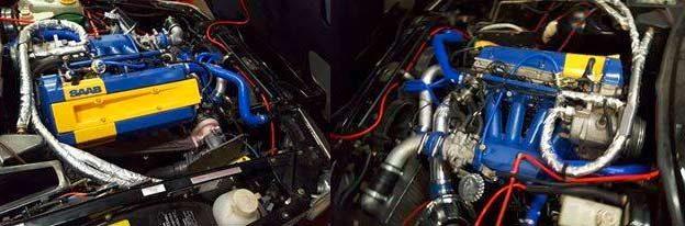 Tuned Saab engine