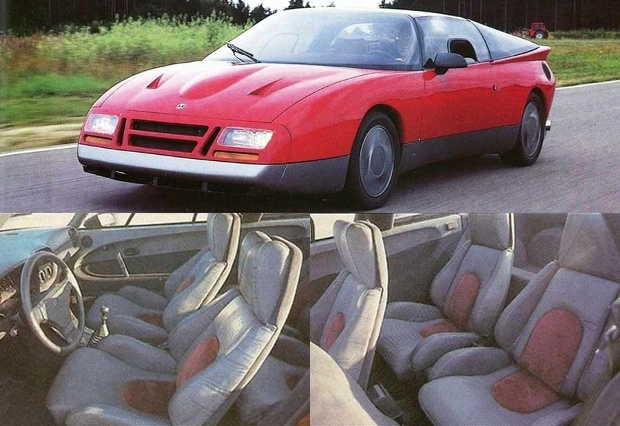 Chevrolet Corvette seats in Saab EV-1