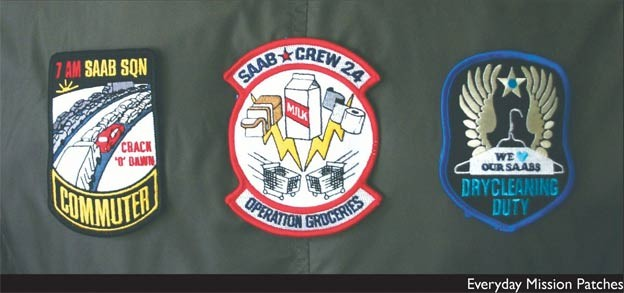 Saab everyday mission patches