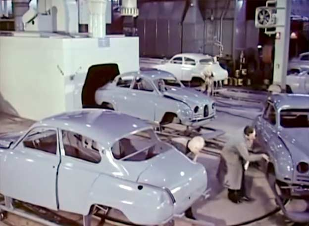 1960: A day at the SAAB factory