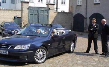 Saab Convertible the Danish Royal Couple