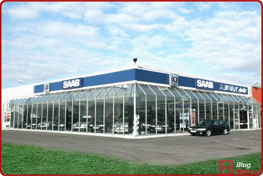 This is how this French Saab cars salon used to look, at its best