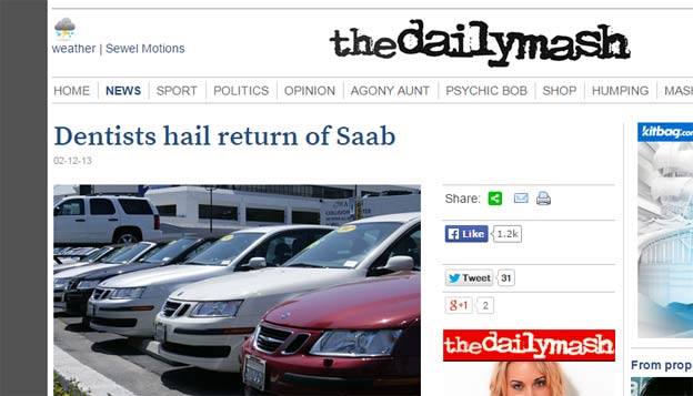 Dentists hail return of Saab