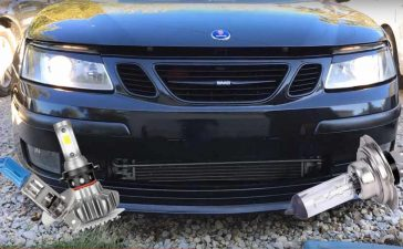 How to upgrade those older SAAB headlights?