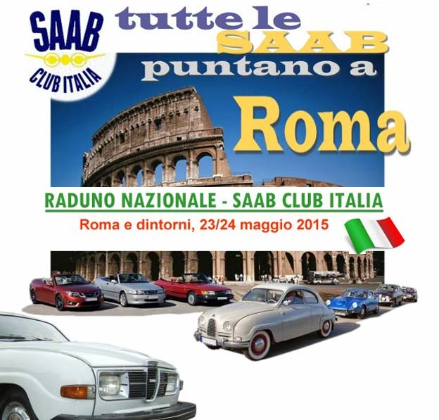 "The Gathering of the Saab Club Italy - ""All roads lead to Rome"""