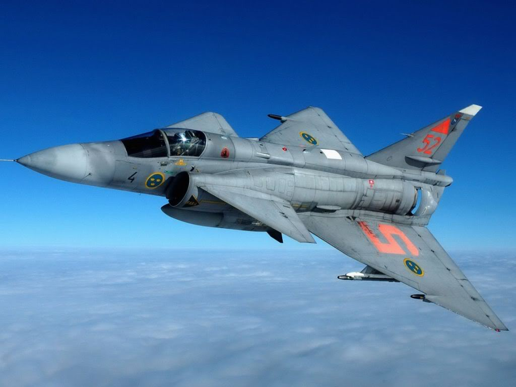 Saab Viggen can land and take off in less than 1 minute