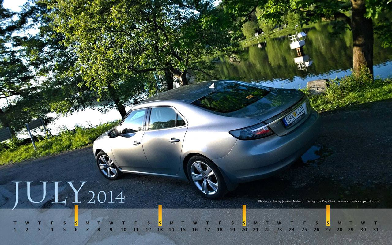 Download Saab Monthly Wallpapers for JULY 2014