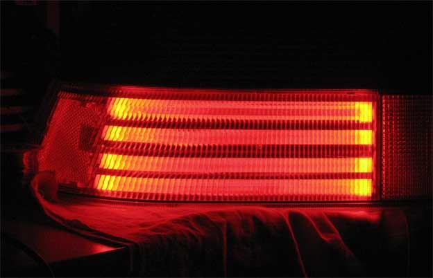 Saab LED lights