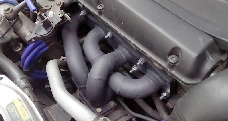 Ceramic Coated Tubular Exhaust Manifold for Saab cars